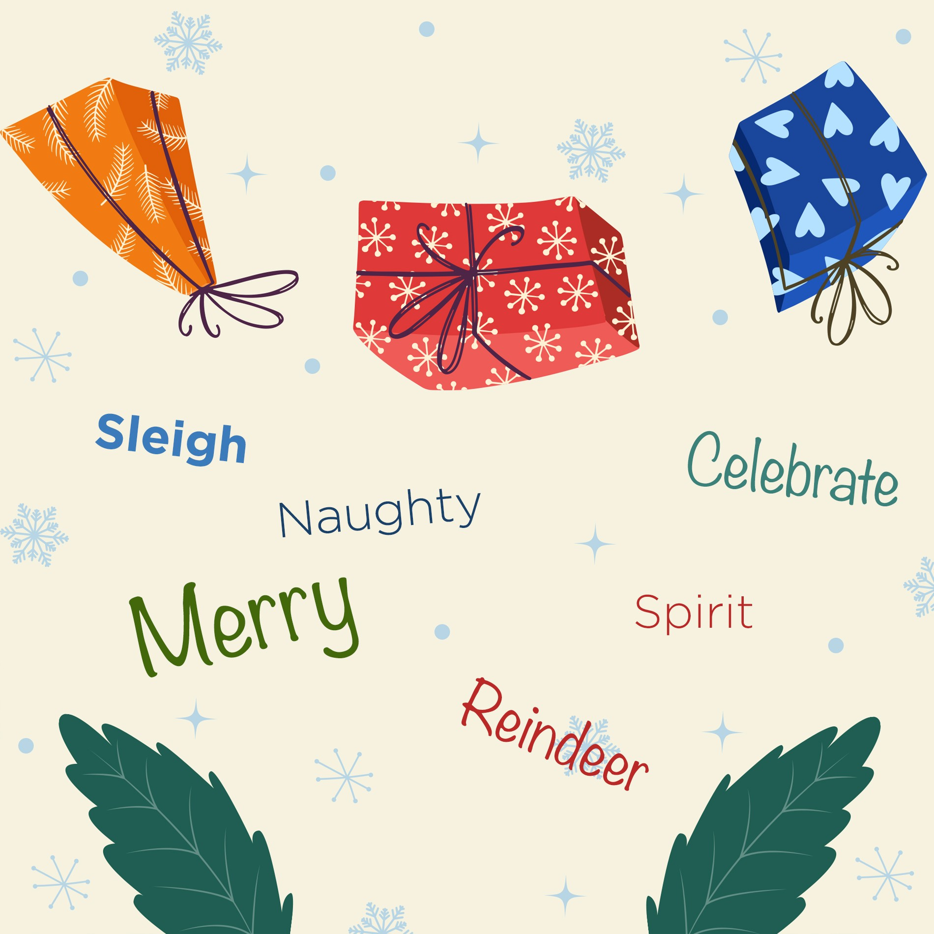christmas words in english English Academy